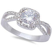 Sterling Silver Engagement Ring - 06AS62