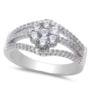 Sterling Silver Engagement Ring - 06AS66