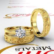 Gold Complete Leaf Style Wedding Set - 06GG48