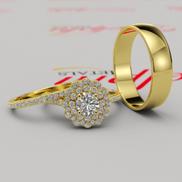 Gold Complete Wedding Set - 16GG94