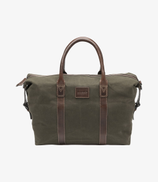 Loake weekend Canvas bag - Green Canvas