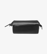 Loake Thames Wash leather bag - Black