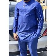 Andrezzy Stitches Men Royal Blue Senator