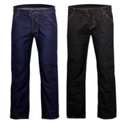 2 In 1 Men's Regular Straight Jeans - Blue And Black
