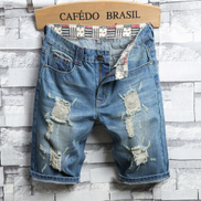 High Quality Men's Street Jeans Personalized Print -Blue
