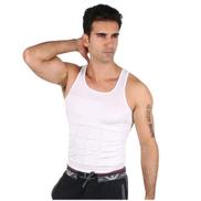Mens Slimming Vest White