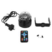 Home-LED DJ Club Disco Party Ball Crystal Light With Remote Control Diamond ShapeBlack