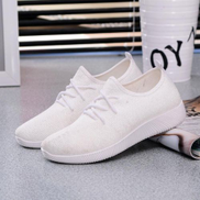 Womens Casual Sport Shoes Athletic Sneakers Running Breathable Mesh Walking Flat WHITE-EU