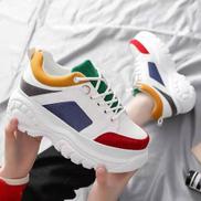 Multi-coloured Unisex Sneakers - White