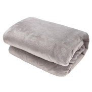 220 X 240cm Mink Blanket Double Sided Queen Soft Plush Bed Faux Throw Rug 800GSMGray