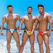 Men SwimTrunks,Beach Swimwear Underpant Triangle Swim Trunks
