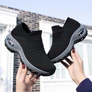 Trendy Ladies Stocking Sneakers- Black