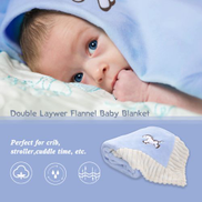 Baby Blanket Double Laywer Flannel Swaddling Super-Soft