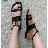 Classic Female Black Sandals