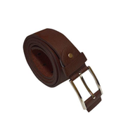 Men's Brown Leather Mouth Buckle Belt