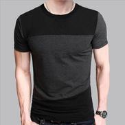 Danami Black Grey Contrast Round Neck T-Shirt