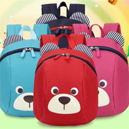 Anti Lost Bag For Girls Boy Kids Children Strap Bag Baby Aged 1-3 Years Old Safety Canvas Harness Toddler Cartoon BackpackPink