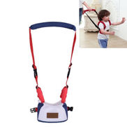Children Basket Type Back Pull Pattern Harnesses Leashes Toddler Safety Adjustable Harness Baby WalkingistantDark Blue