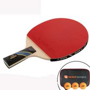 1pcs lot Professional Carbon Fiber Table Tennis Racket Blade With Single Rubber Ping Pong Paddle Bat - Short Handle