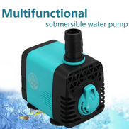 110V Submersible Water Pump Aquarium Fish Tank Fountain Hydroponic Multifunction 15W 800L H Blue