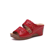 High-heeled Comfortable Slippers - Red
