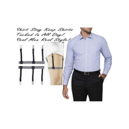 Hidden Men Shirt Stay Shirt Suspenders ,Shirt Garter Keeper With Non-slip Locking Clamps.FEEL GOOD, LOOK SMART.SHARE WITH FRIENDS, COLLEAGUES