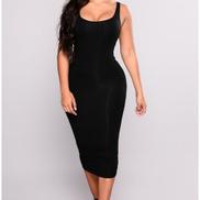 Fancy Finery Alisa Sleeveless Bodycon Pencil Dress - Black