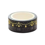 15mm5m Gold Foil Silver Foil Printed Patterns Washi Tape