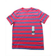J Khaki Striped Tshirt-Blue And Pink