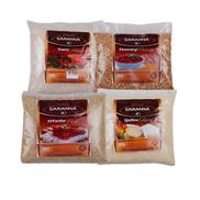 Saranna Global Combo Pack Of Premium Ijebu Garri Honey Beans Ofada Yam Flour Elubo - 1kg