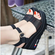 Women High Wedge Sandals Summer Soft Lightweight Platform Open Toe Buckled Party Beach Daily Shoes