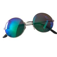 Women Men Colorful Mirror Lens Round Glasses Uni Sunglasses Vintage-Blue