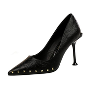 Big Tree Rivets Party Women Shoes High-Heeled Shoes Woman Pumps Pointed Toe Stiletto Ladies Shoes High Heels