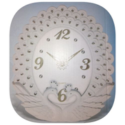 Designers Peacock Wall Clock White