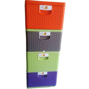 Generic Plastic Storage Cabinet drawer For Kids- Multicolor