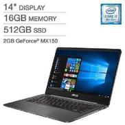 Asus ZENBOOK UX430UN Intel Core I7-8550U 1.8GHz,512gb Ssd 16gb,Nvidia MX1502GB Fingerprint Backlit,Window 10-GREY
