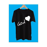 Love GOD Black Polo T Shirt Round Neck --for Men And Women