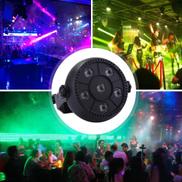 3W Colorful LED PAR Light , 6 LEDs Auto Run Sound Control LED Stage Light, AC 85-260V, US EU Plug