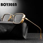 BOYSEEN New Indian Explosion Sunglasses Men Retro Thick Edge Metal Frame Trend Sunglasses 58157X
