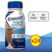 Ensure Healthy Chocolate Nutrition Shake Drink - 24 Bottles