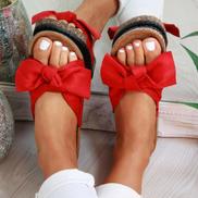 Female Sandals Thick Bottom Bow Knot Flip-flops Summer Beach
