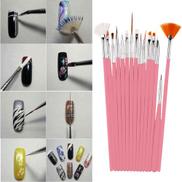 15PC Nail Art Design Painting Dotting Detailing Pen Brushes Bundle Tool Kit Set