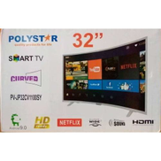 Polystar 32-Inches Smart Curved TV With Netflix 1year Warranty