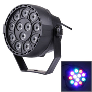 KD-12W 12 LED PAR Light Stage Light With LED Display, Master Slave DMX512 Auto Run Modes, US EU Plug