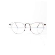 Retro Geek Vintage Nerd Frame Fashion Round Clear Lens Glasses With Case - Plain