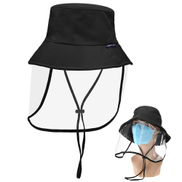 Protective Hat With Removable Transparent Face Shield Men