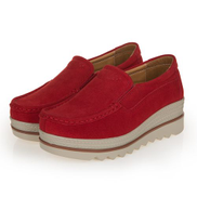 Cstxhd EUR 35-42 Women Platform Shoes Suede Leather Casual Slip On Shoes