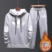 Winter Autumn Hoodie Sweater Jacket+ Joggers Sweatpants Man Printing Suits Sportwear Tracksuit Fight Color