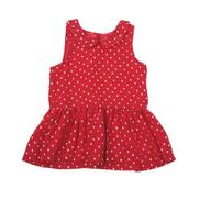 Joe Fresh Polka Dot Drop Waist Dress - Red Gold
