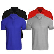 4 In 1 Quality Men's Plain Short Sleeve Polo T-Shirts